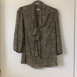 Necessary Clothing leopard blouse